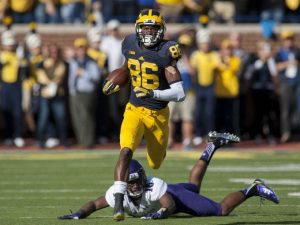 Jehu Chesson Had A Good 2015 Campaign At WR For The Michigan Wolverines Football Team For Head Coach Jim Harbaugh.