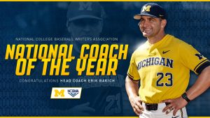 Erik Bakich Won National Coach Of The Year Award In College Baseball This Season For The Michigan Wolverines.