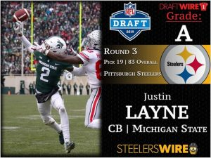 Justin Layne Is Going To Help Out The Secondary For The Pittsburgh Steelers In The Future.