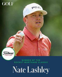 Nate Lashley Won His 1st Career PGA Tour Title On Sunday In Detroit.