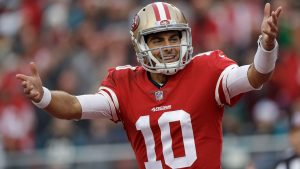 Jimmy Grappolo Is Doing Very Well For The 2019 San Francisco 49ers Football Team.