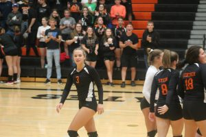 Harbor Beach Pirates Volleyball Got A Home Victory Against The Brown City Green Devils On Tuesday Night.