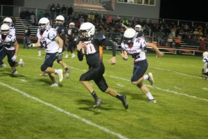 Dylan Kadar Was Brilliant In The Sandusky Redskins Football Game On The Road On Friday Night.
