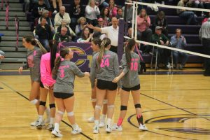 Caro Tigers Upset The Cass City Red Hawks In Volleyball At Caro HS.