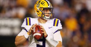 Joe Burrow Put On A Good Show For The LSU Tigers In The College Football Playoff Semifinal Game.