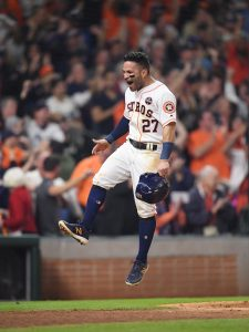Jose Altuve Won ALCS MVP For The Houston Astros Baseball Team On Saturday Night At Minute Maid Park In Houston.