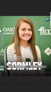 Sydney Gormley Won Player Of The Year Award For The Oakland Community College Raiders Volleyball Team In 2019.