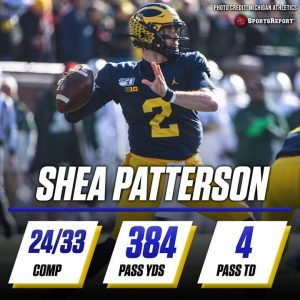 Shea Patterson Had His Best Day As A Michigan Wolverine QB.