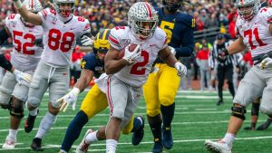 JK Dobbins Was Brilliant Against The Michigan Wolverines At The Big House In Ann Arbor.