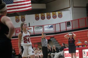 Maddie Long & Olivia Jacobson Lead The Way For The Sandusky Redskins Girls Basketball Team To A Victory At Home.