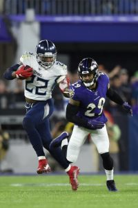 Derrick Henry Carried The Load For The Tennessee Titans To A Victory Against The Baltimore Ravens On The Road On Saturday Night.