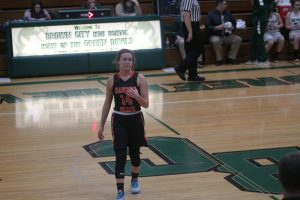Claire Woodke Guide The Harbor Beach Pirates Girls Basketball Team To A Victory.