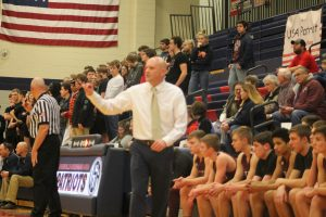 Cass City Red Hawks Pulled A Upset Over The USA Patriots In The Division 3 Boys Basketball District Semifinal Game On Wednesday Night At USA HS.