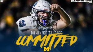 Dominick Giudice Verbally Committed To The Michigan Wolverines Football Team At Defensive End.
