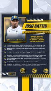 Josh Gattis Is A Good OC/WR's Coach For The Michigan Wolverines Football Team.