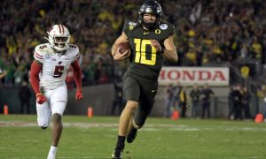 Justin Herbert Going To The Los Angeles Chargers At QB.