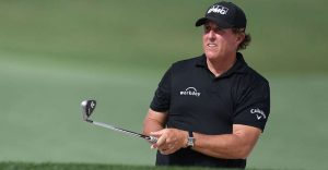 50 Year Old Phil Mickelson Still Playing Very Well At The 2020 Travelers Championship In Potomac, MD.