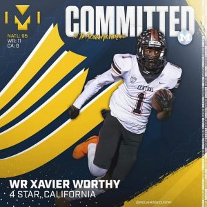 Xavier Worthy Verbaly Committed To The Michigan Wolverines Football Team On Friday.