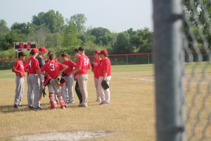 Chris Babcock Is A Good Baseball Coach For The 14U Peck Pirates.