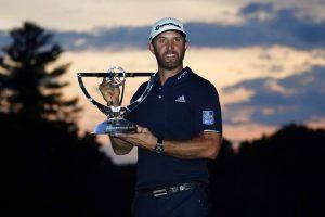 Dustin Johnson Won The Northern Trust Open In Boston, MA.