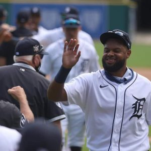 Detroit Tigers Sweep The Minnesota Twins At Comerica Park In Detroit.