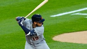 Detroit Tigers End The Losing Streak To The Cleveland Indians At Progressive Field In Cleveland.