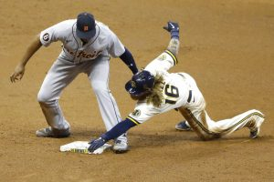 Detroit Tigers Took A Split In The Milwaukee Brewers Series At Miller Park In Milwaukee.