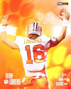 Trevor Lawrence Carried The Load For The Clemson Tigers Against The Georgia Yellowjackets On The Road In Atlanta.