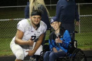 Drake Deshetsky Showing Good Inspiration To Another Special Need For The North Branch Broncos Football Team.