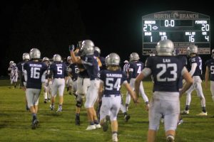 North Branch Broncos Football Team On Defense Made A Difference In This Big BWAC Conference Game On Homecoming Night.