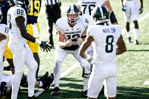 Rocky Lombardi Had A Good Game On Halloween On The Road For The Michigan State Spartans Football Team.