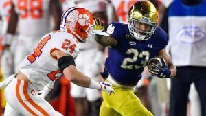 Kyren Williams Carried The Notre Dame Fighting Irish Football Team To A Home Upset Victory On Saturday Night.