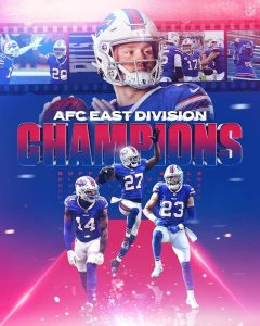 Buffalo Bills Are The AFC East Divisional Champions.
