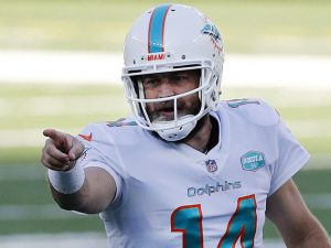 Ryan Fitzpatrick Replaced Tua Tagovailoa Very Nicely In The 4th Quarter For The Miami Dolphins In A Road Victory Over The Las Vegas Raiders.