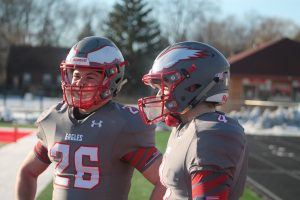 Davin Reif & Cole Lindow Have Amazing QB & RB Tandem For The 2020-21 Frankenmuth Eagles Football Team.