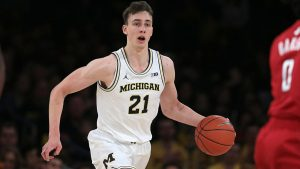Franz Wagner Carried The Load For The Michigan Wolverines Basketball Team To A Home Victory Over The Northwestern Wildcats In B1G Conference Action.