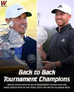 Brooks Koepka & Daniel Berger Representing The Florida State Seminoles Golf Team & Program In Tallahassee Very Well.