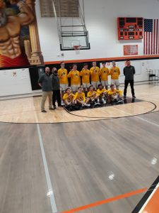 2021 Reese Rockets Boys Basketball Team Division 3 District Champions.