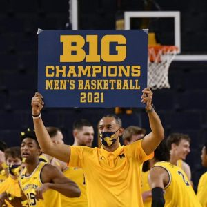 Juwan Howard Unanimous B1G Conference Basketball Coach Of The Year Award In The 2020-21 Campaign.