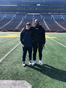 Matthew Judon Made A Nice Visit To See His Favorite NFL Coach Mike MacDonald At The Michigan Wolverines Football Team Spring Practice In Ann Arbor On Saturday.