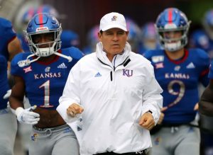 Les Miles Is Placed Administrative Leave As Kansas Jayhawks Football Head Coach In Lawrence.