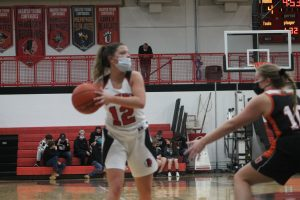 Ally Guibord Led The Sandusky Redskins Girls Basketball Team To A Victory At Home Against The Ubly Bearcats In GTCE Division Action.