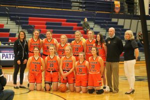 2021 Harbor Beach Pirates Girls Basketball Team Is Division 3 District Champions.