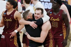 Porter Moser Had His Loyola Chicago Ramblers Basketball Team Focus In The 2nd Rd Of The 2021 NCAA Tournament In Indianapolis On Sunday.