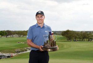 Jordan Spieth 2021 Valero Texas Open Champion On Easter Sunday In San Antonio.