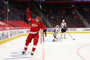 Jakub Knara Scored His 1st Career Detroit Red Wings Hockey Goal.