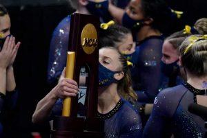 2021 Michigan Wolverines Women's Gymnastics Team National Champions.