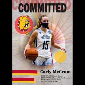 Carly McCrum Committed To The Ferris State University Women's Basketball Team In The Class Of 2021.