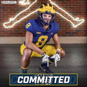 Tyler Morris Verbally Committed To The Michigan Wolverines Football Team In The Class Of 2022.