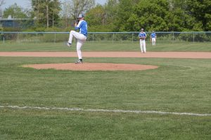 Tyler Johnson Guide The Cros-Lex Pioneers Baseball Team To Another Win In BWAC Conference Action In North Branch HS.